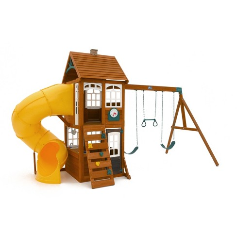 Kidkraft Creston Lodge Wooden Swing Setplayset