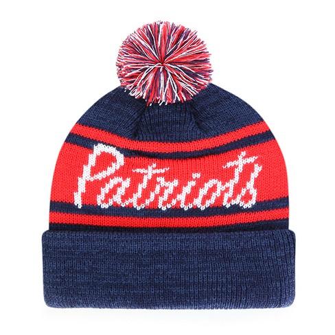 NFL Women s New England Patriots Script Bar Knit Hat   Target fd1e90176