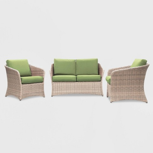 Montgomery 3pc Patio Seating Set - Leisure Made - image 1 of 2