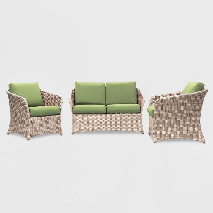 Montgomery 3pc Patio Seating Set - Leisure Made - image 1 of 2
