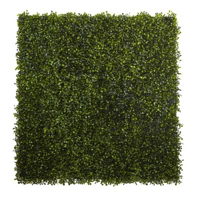 """12"""" X 10"""" 12pk Artificial Boxwood Mat Set Green   Nearly Natural by Nearly Natural"""
