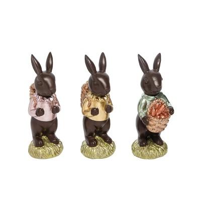 Gallerie II Chocolate Bunny Easter Figurine A/3