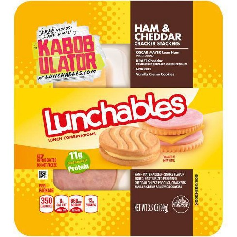 Oscar Mayer Lunchables Ham & Cheddar with Cracker Stackers - 3.5oz - image 1 of 1