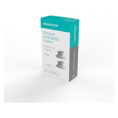 Nanobebe Standard Neck 2pk Breast Pump Adapter