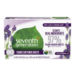 Seventh Generation Fresh Lavender Scent Fabric Softener Sheets - 80ct