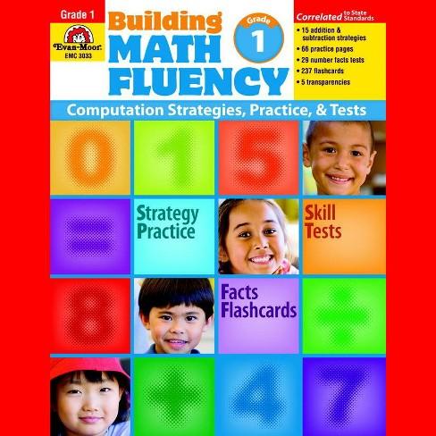 Evan-Moor Building Math Fluency Book, Grade 1
