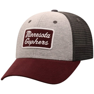 NCAA Minnesota Golden Gophers Men's Gray Cotton with Mesh Snapback Hat