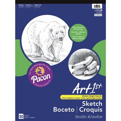 Art1st Easel Drawing Pad, 18 x 24 Inches, 50 lb, 50 Sheets - image 1 of 1