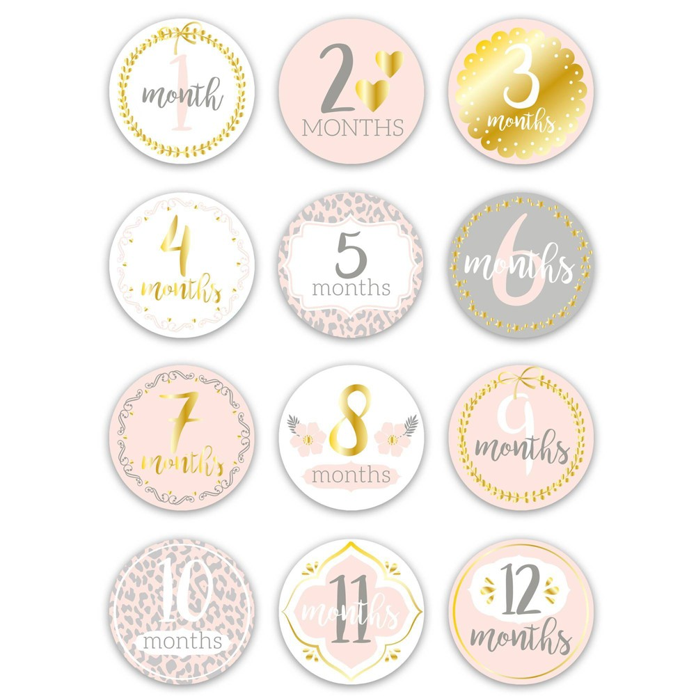 Image of Baby Monthly Stickers by The Peanutshell
