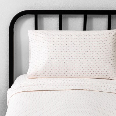 Queen Diamond Dot Sheet Set Pink - Hearth & Hand™ with Magnolia
