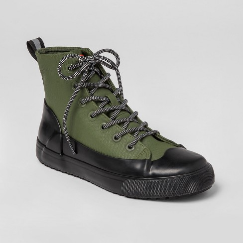 28ee36c2698a18 Hunter For Target Adult Unisex Dipped Canvas High Top Sneakers - Olive    Target