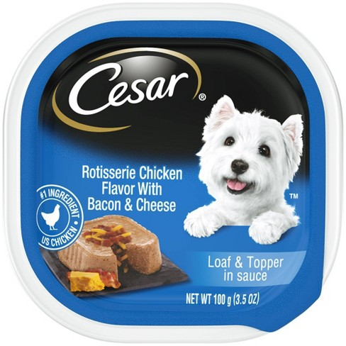 Cesar Savory Delights (Rotisserie Chicken with Bacon & Cheese) - Wet Dog Food - image 1 of 4