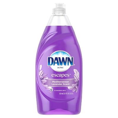 Dawn Escapes Dishwashing Liquid Dish Soap Mediterranean Lavender - 28oz
