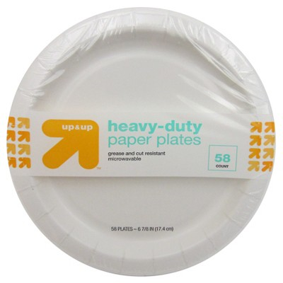 Heavy Duty Disposable Paper Plates 6.5  - 58ct - Up&Up™