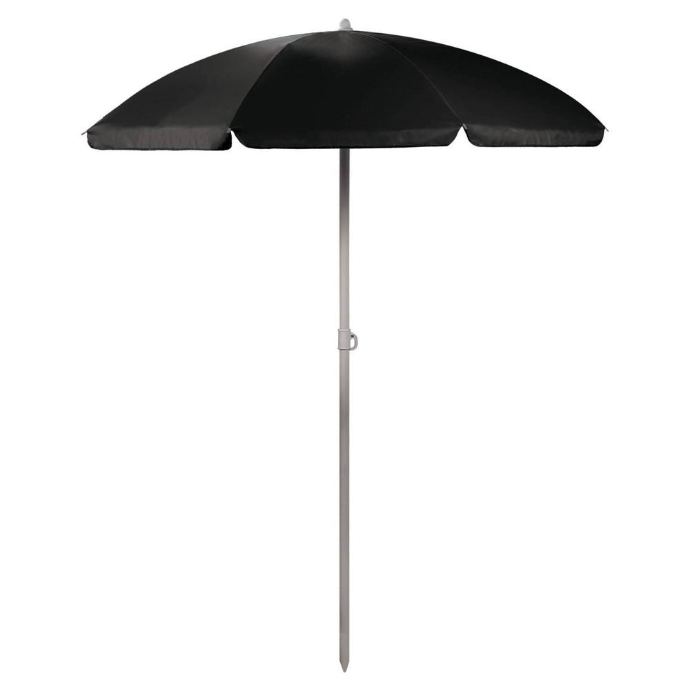 Picnic Time 5 5 39 Beach Umbrella Black