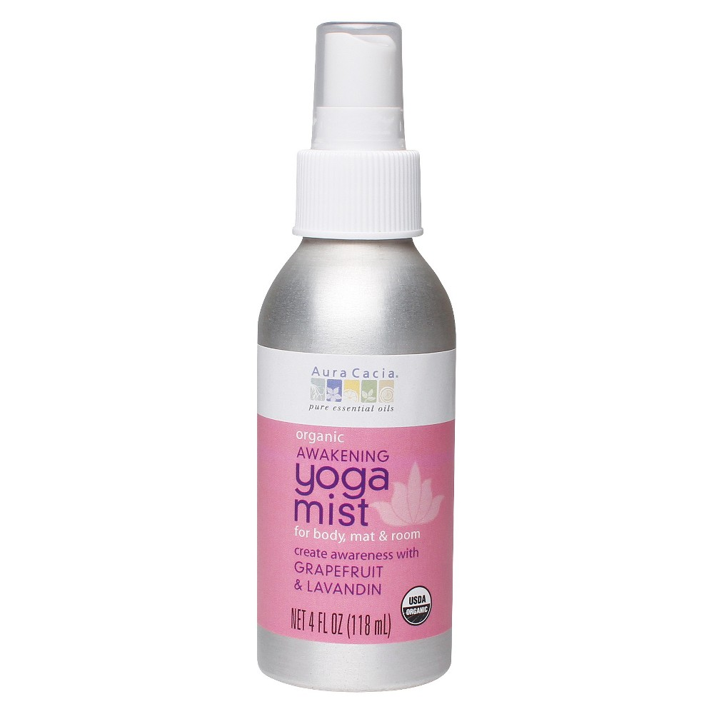 Aura Cacia Organic Awakening Yoga Mist with Grapefruit and Lavandin - 4 oz