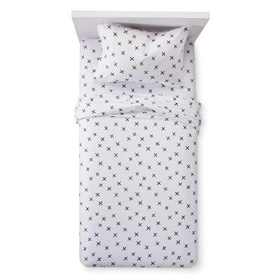 X Marks the Spot Sheet Set (Full)Black & White - Pillowfort™