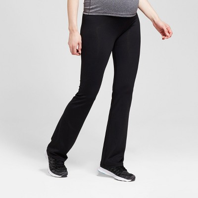 Maternity Crossover Panel® Active Bootcut Pants - Isabel Maternity™ by Ingrid & Isabel® Black XXL