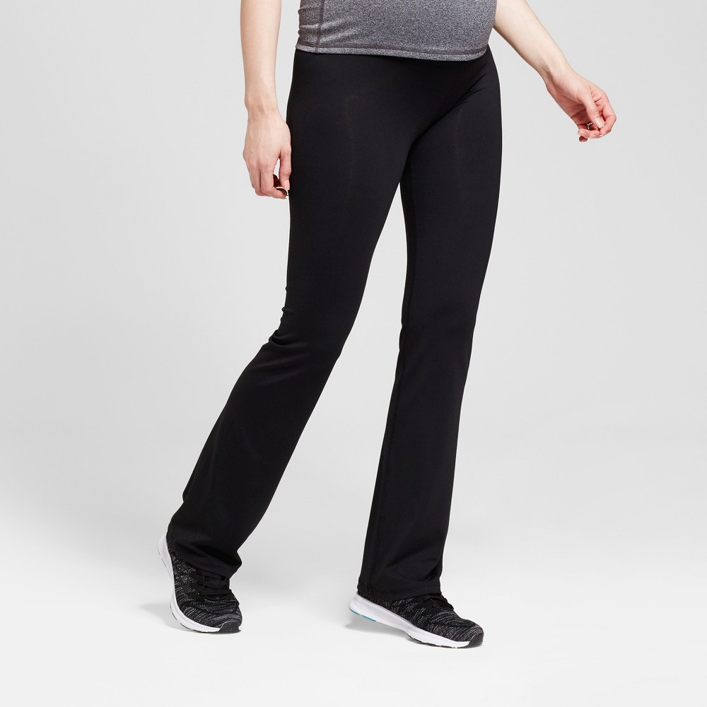 Maternity Crossover Panel Active Bootcut Pants - Isabel Maternity by Ingrid & Isabel Black L, Women's