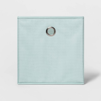 "11"" Fabric Cube Storage Bin Mint - Room Essentials™"