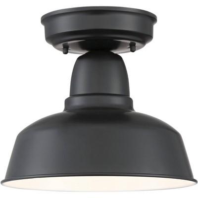 "John Timberland Rustic Outdoor Ceiling Light Fixture Urban Barn Farmhouse Black 10 1/4"" for House Porch Patio"