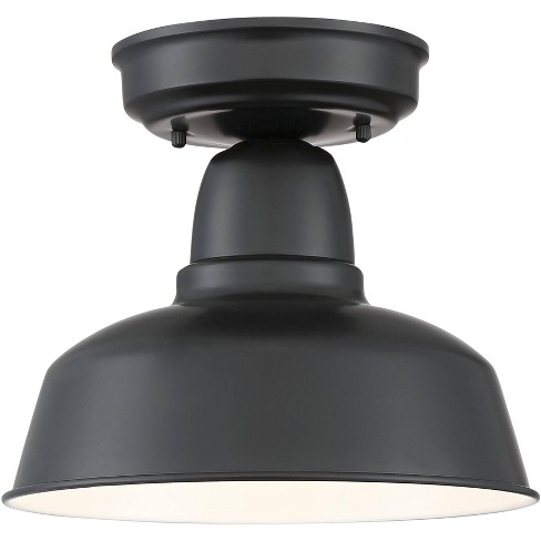 """John Timberland Rustic Outdoor Ceiling Light Fixture Urban Barn Farmhouse Black 10 1/4"""" for House Porch Patio - image 1 of 4"""