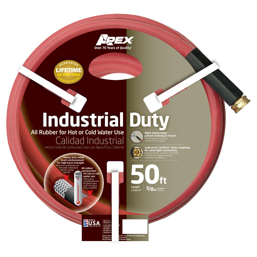 Image of 5/8 x 50' Apex Industrial Duty Hose, Red