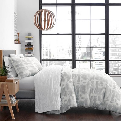 Aria Duvet Cover Set Stone - City Scene