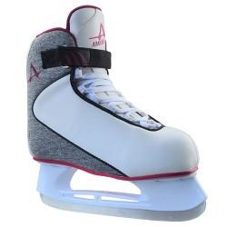 American Ladies Softboot Hockey Skate - Gray and Plum