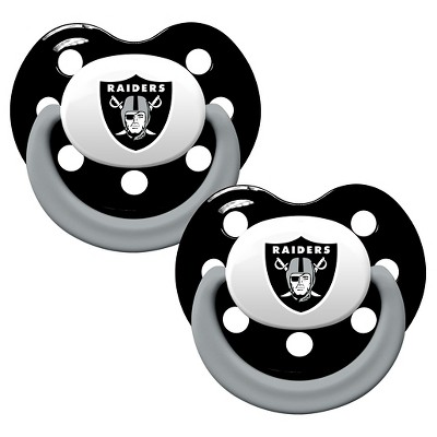 Oakland Raiders Baby Fanatic Pacifiers - 2 Pack