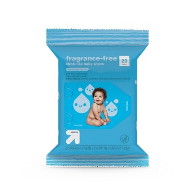 Fragrance Free Baby Wipes Travel Pack - 20ct - up & up™