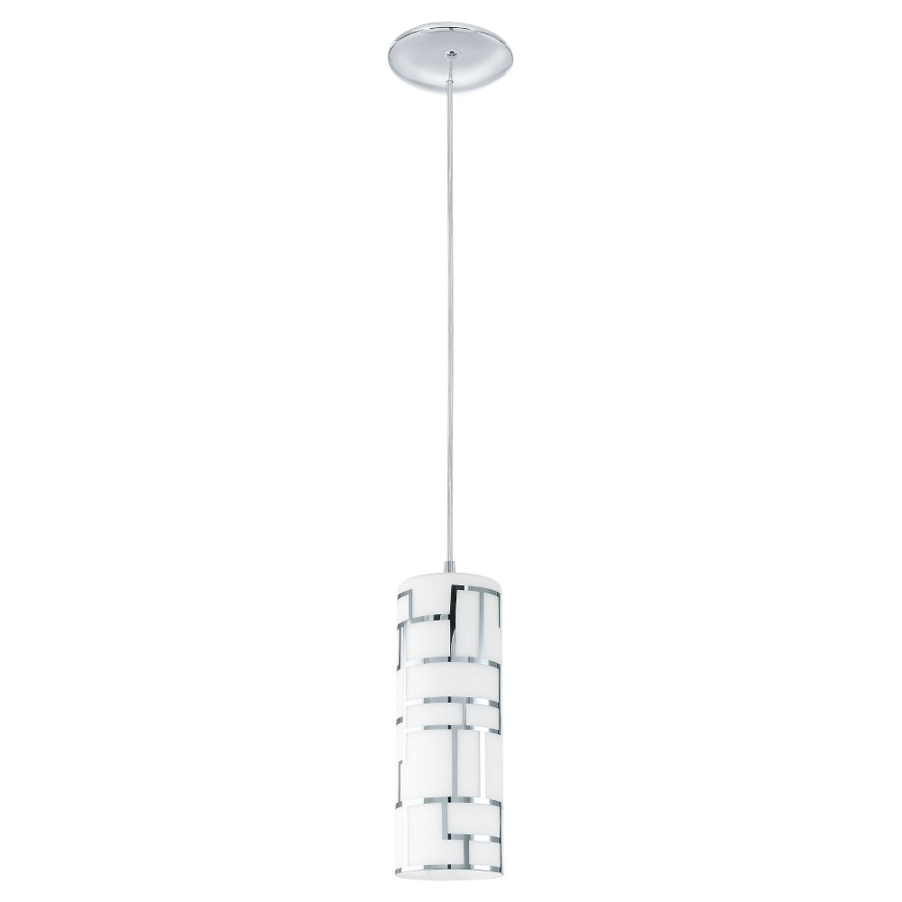 "Image of ""Bayman Mini Pendant Wall Light 5"""" Chrome - Eglo"""