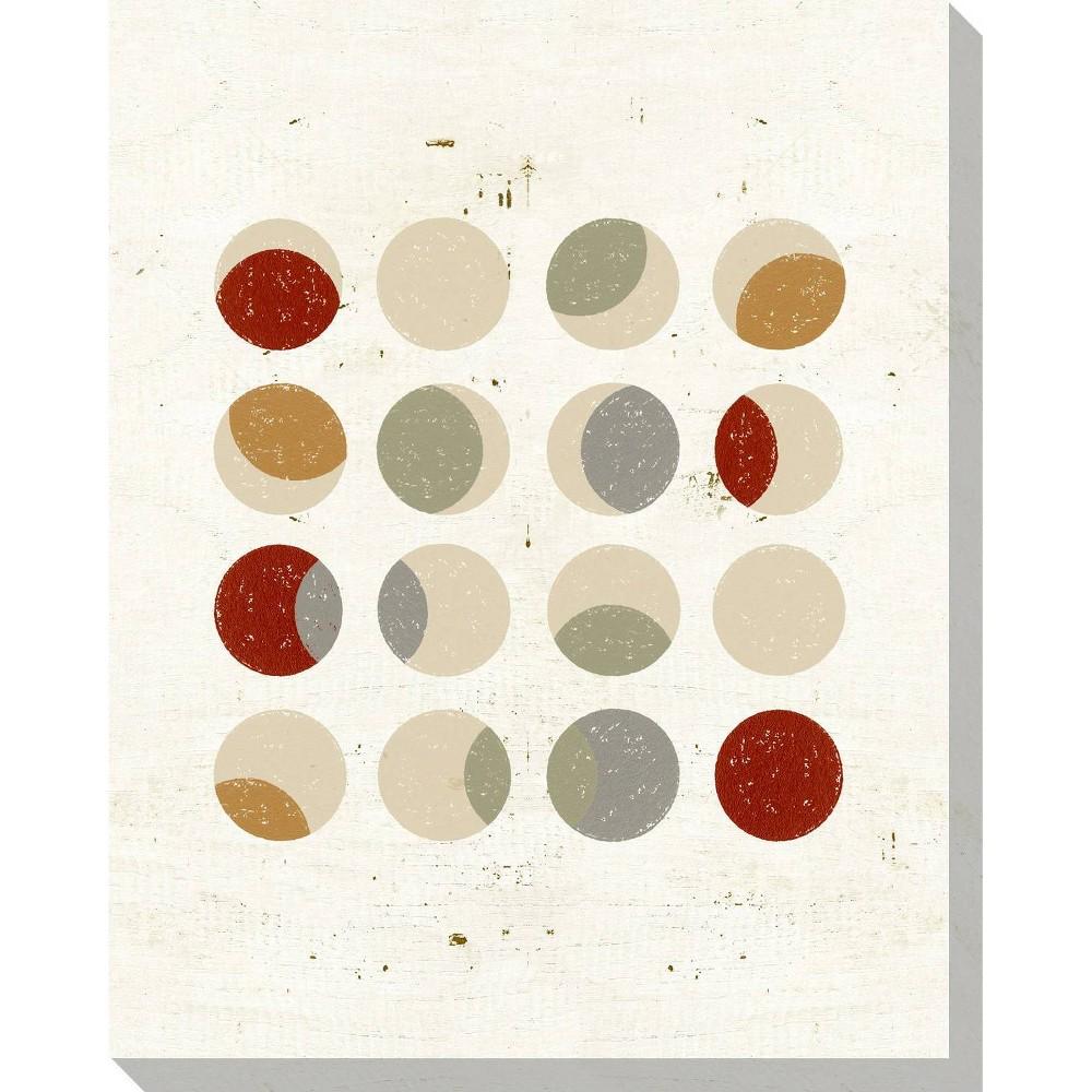 Image of Circle Play Light 1 Unframed Wall Canvas Art - (24X30)