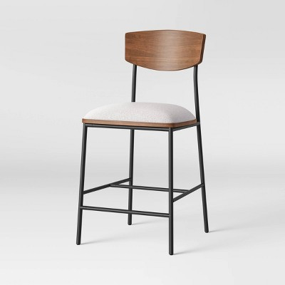 Telstar Mid-Century Modern Mixed Material Counter Height Barstool Beige - Project 62™