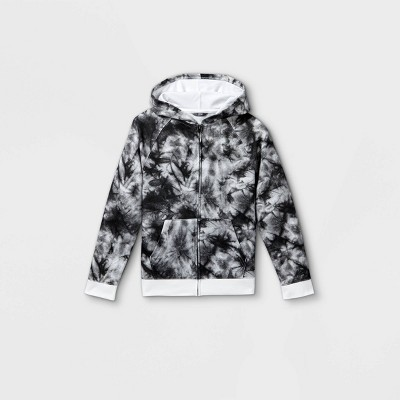 Boys' Tie-Dye French Terry Hooded Sweatshirt - Cat & Jack™ Gray