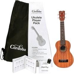 Cordoba Ukulele Players Pack Natural