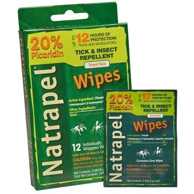 Natrapel Wipes 12ct