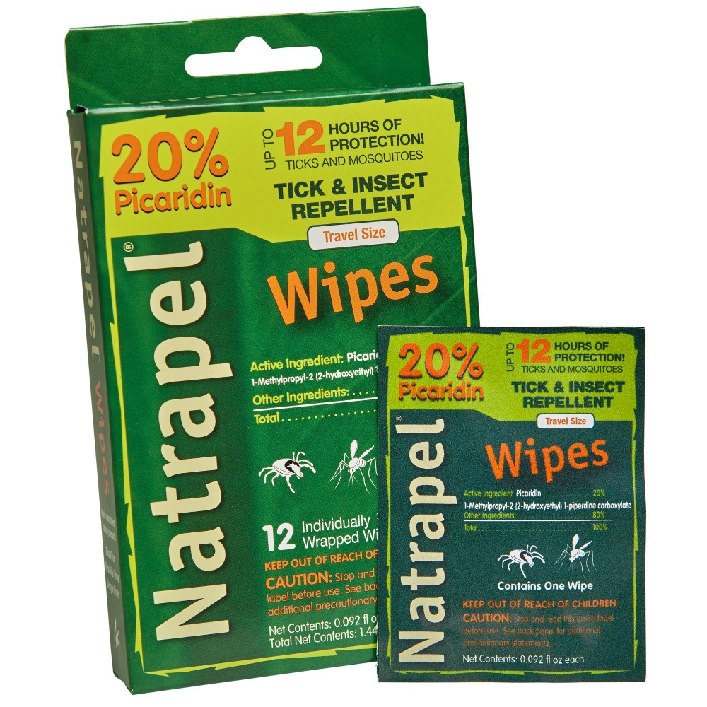 Image of Natrapel Wipes 12ct, personal repellents and bug sprays