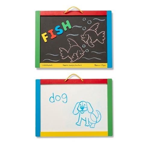 Melissa & Doug® Magnetic Chalkboard and Dry-Erase Board With 36 Magnets,  Chalk, Eraser, and Dry-Erase Pen
