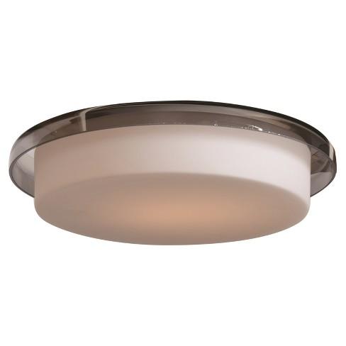 "Bellagio 8""D LED Flush Mount - Opal/Smoke Glass Shade - image 1 of 2"