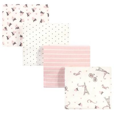 Hudson Baby Unisex Baby Cotton Flannel Receiving Blanket - Paris One Size