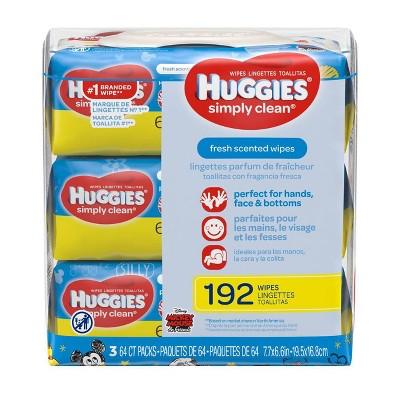 Huggies Simply Clean Wipes 3pk - 192ct