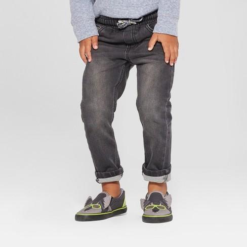 Toddler Boys' Pull-On Skinny Jeans - Cat & Jack™ Black Denim - image 1 of 3