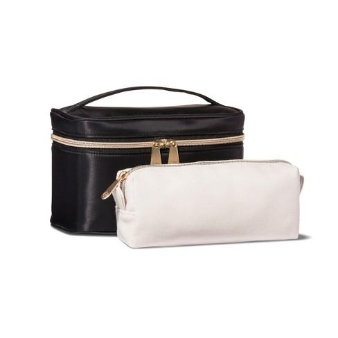 Sonia Kashuk™ 2pc Train Case Makeup Bag Set - Black   Target 07b24b41bd