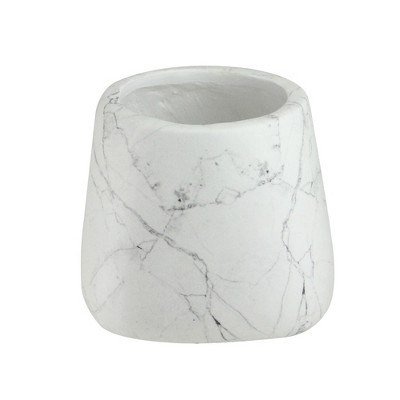 """Allstate Floral 5.75"""" Marbled Indoor and Outdoor Pot Planter - White/Black"""