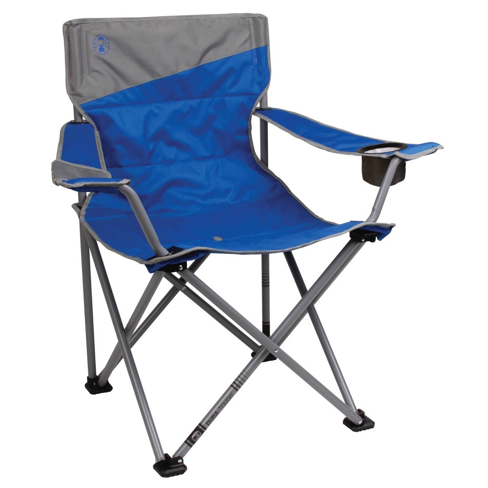 Enjoy an extra-roomy seat at your next camping trip, picnic, or backyard barbecue with the Big and Tall Camping Chair. With its oversize design and large feet, this folding chair provides exceptional stability and plenty of room to lounge and relax. The strong steel frame supports up to 600 pounds and will stand up to years of rugged use. Age Group: adult. Pattern: Solid.