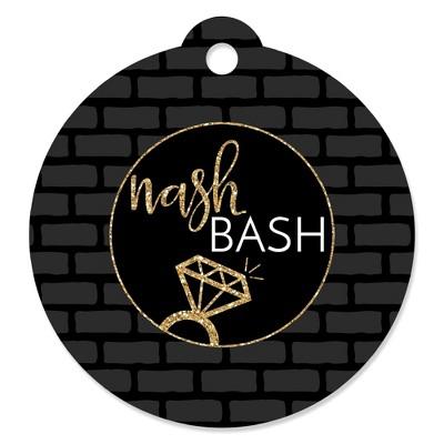 Big Dot of Happiness Nash Bash - Nashville Bachelorette Party Favor Gift Tags (Set of 20)