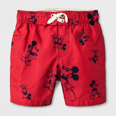 11c2ef3104 Junk Food Toddler Boys' Disney Mickey Mouse Swim Trunks - Red 4T ...