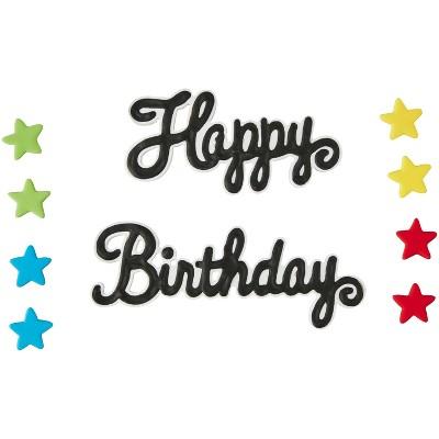 Wilton Happy Birthday & Stars Decorations - 1.1oz