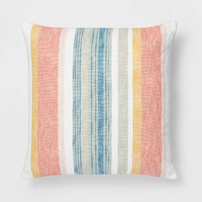 Oversized Square Woven Stripe Pillow - Threshold™